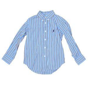 Ralph Lauren Polo Blue Striped Long Sleeve Shirt 4